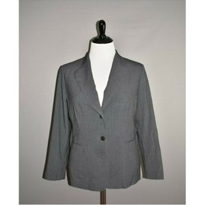 CALVIN KLEIN Gray 2 Button Blazer Jacket
